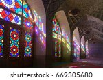 nasir al molk mosque in shiraz  ...   Shutterstock . vector #669305680
