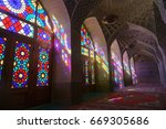 nasir al molk mosque in shiraz  ... | Shutterstock . vector #669305686