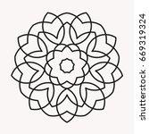Simple Mandala Shape For...