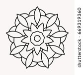 simple mandala shape for... | Shutterstock .eps vector #669319360