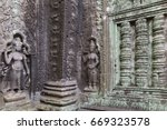 craving apsaras and blind... | Shutterstock . vector #669323578