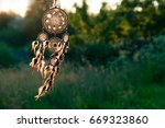 dreamcatcher  american native... | Shutterstock . vector #669323860