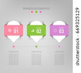 infographic template of three...   Shutterstock .eps vector #669325129