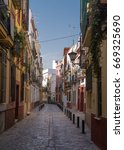 Quiet Sevilla Street In Spain