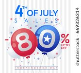 4th july independence day ... | Shutterstock .eps vector #669326314