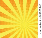 retro comic yellow background... | Shutterstock .eps vector #669335140