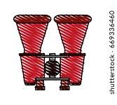 binocular vector illustration | Shutterstock .eps vector #669336460