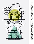 linear vector minimalistic... | Shutterstock .eps vector #669348964