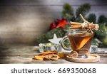 winter christmas background... | Shutterstock . vector #669350068