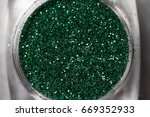 closeup of green nail makeup... | Shutterstock . vector #669352933