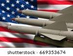 weapons of mass destruction....   Shutterstock . vector #669353674