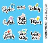 design template with school...   Shutterstock .eps vector #669363010