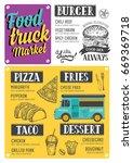 street food festival menu.... | Shutterstock .eps vector #669369718