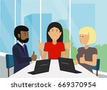 successful business people... | Shutterstock .eps vector #669370954