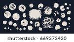 hand drawing brush stroke. set... | Shutterstock .eps vector #669373420