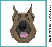icon with sheepdog. vector... | Shutterstock .eps vector #669375124