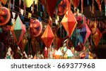 Small photo of Festivities and colorful decorations for traditional junina south american party.