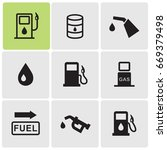 gas station icons | Shutterstock .eps vector #669379498