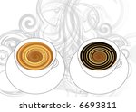 cups of coffee and vapors | Shutterstock . vector #6693811