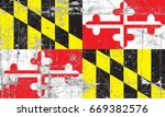 the flag of maryland | Shutterstock . vector #669382576