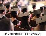 square academic caps of... | Shutterstock . vector #669390109