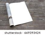 mock up magazine or catalog on...   Shutterstock . vector #669393424