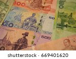 banknotes of thailand of... | Shutterstock . vector #669401620