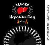 world hepatitis day background...   Shutterstock .eps vector #669402199