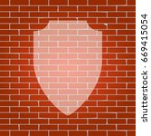 shield sign illustration.... | Shutterstock .eps vector #669415054