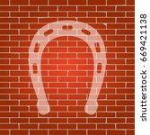 horseshoe sign illustration.... | Shutterstock .eps vector #669421138