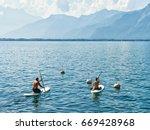montreux  switzerland   august... | Shutterstock . vector #669428968