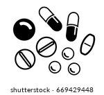 vector pills and capsules in... | Shutterstock .eps vector #669429448