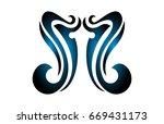 tribal tattoo | Shutterstock .eps vector #669431173