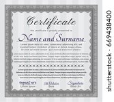 grey certificate diploma or... | Shutterstock .eps vector #669438400