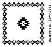 vintage ethnic pattern  serbian ... | Shutterstock .eps vector #669441568