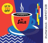 sale discount abstract banner ... | Shutterstock .eps vector #669457108