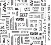 strips of decorative masking... | Shutterstock .eps vector #669457588