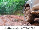 wheel closeup in a countryside... | Shutterstock . vector #669460228