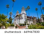 san simeon ca june 2017  east... | Shutterstock . vector #669467830