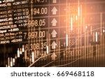 index graph of stock market...   Shutterstock . vector #669468118