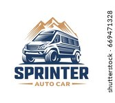 adventure car logo template | Shutterstock .eps vector #669471328