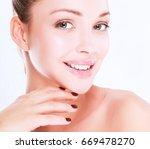 portrait of beautiful woman  ... | Shutterstock . vector #669478270