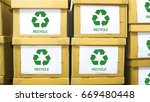 the stack of paper boxs with... | Shutterstock . vector #669480448