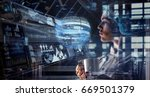innovative technologies in... | Shutterstock . vector #669501379