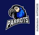 blue parrots mascot logo sport... | Shutterstock .eps vector #669506038