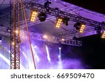 concert stage with lights and...   Shutterstock . vector #669509470