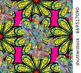 vector abstract flower...   Shutterstock .eps vector #669517090