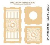 diy laser cutting vector scheme ... | Shutterstock .eps vector #669521530