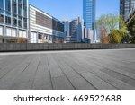 modern building and empty... | Shutterstock . vector #669522688