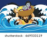 illustration of krishna... | Shutterstock .eps vector #669533119